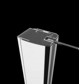 Fuenta 6 mm vastag, edzett biztonsági üveg