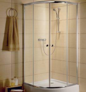Radaway Classic A 1850 íves zuhanykabin barna/fehér