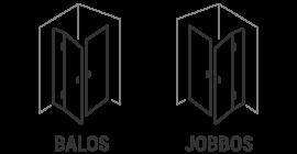 Jobbos-balos zuhanykabin piktogram
