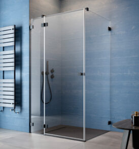 Essenza Pro Black KDJ szögletes fekete zuhanykabin