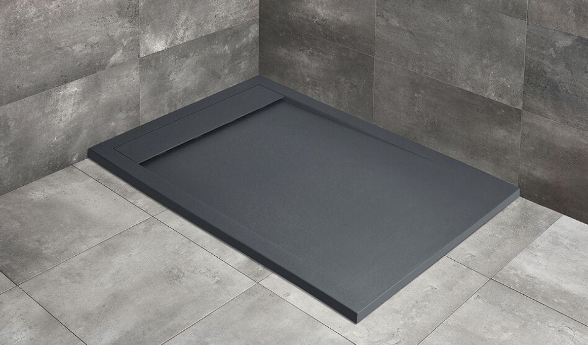 Teos F lapos szögletes zuhanytálca