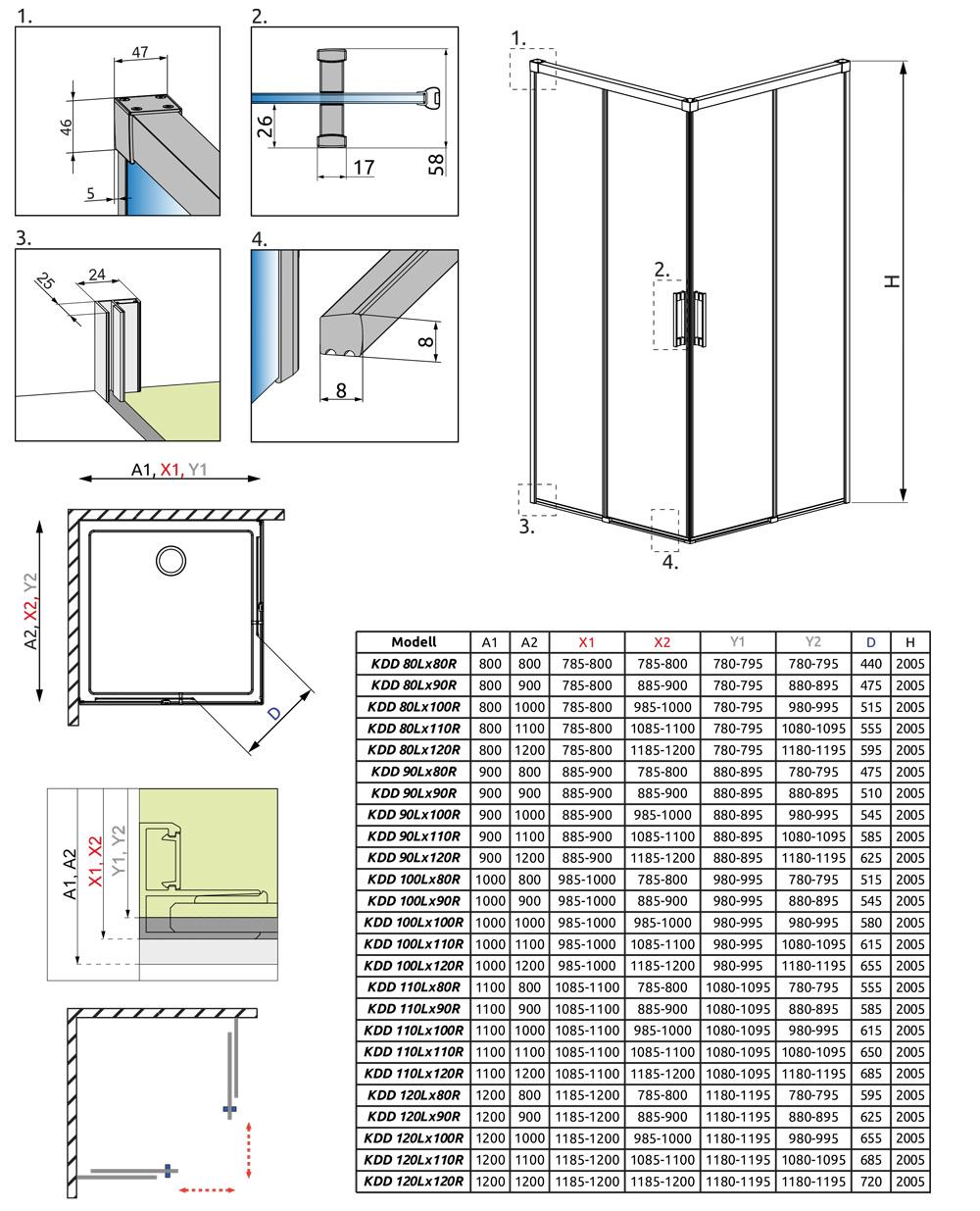 Idea KDD műszaki rajz